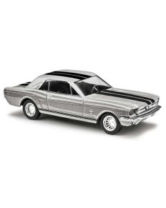 Busch H0 Ford Mustang Coupe zilver BA47573