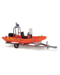 Busch H0 Aanhanger met motorboot BA59951