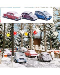 Busch H0 Winterse auto's 89010