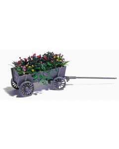 Busch houten kar met bloemen 1228