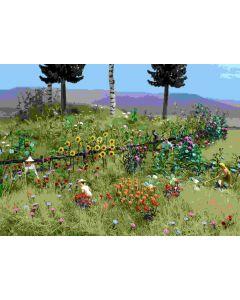 Busch bloemen en planten set 1258
