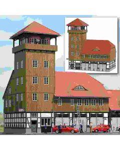 Busch brandweergarage hout 1450