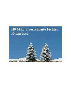 Busch sneeuw sparren 2st. 6151