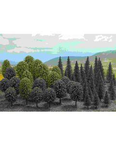 Busch bomen assorti h0 50 st. 6491