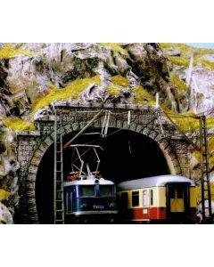 Busch tunnelportaal 2-sporig h0 7027