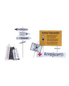 Artitec H0 WM Duitse straatborden 2e WO 387.354