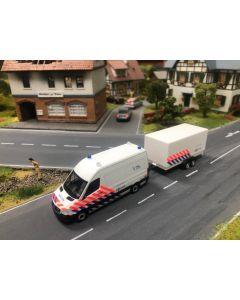 Herpa H0 MB Sprinter Nederlandse politie met aanhanger 937009