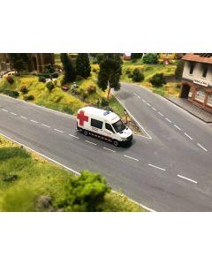 "Herpa H0 MB Sprinter Belgische ambulance ""Rode kruis"" 936989"