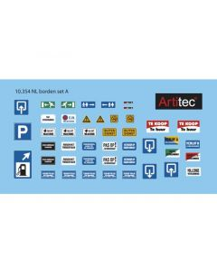 Artitec H0 NL borden set A 10.354