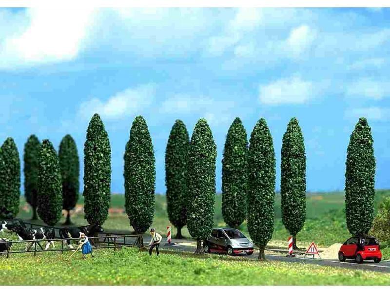 De verschillende soorten loofboomen, fruitbomen en dennenbomen van Busch.