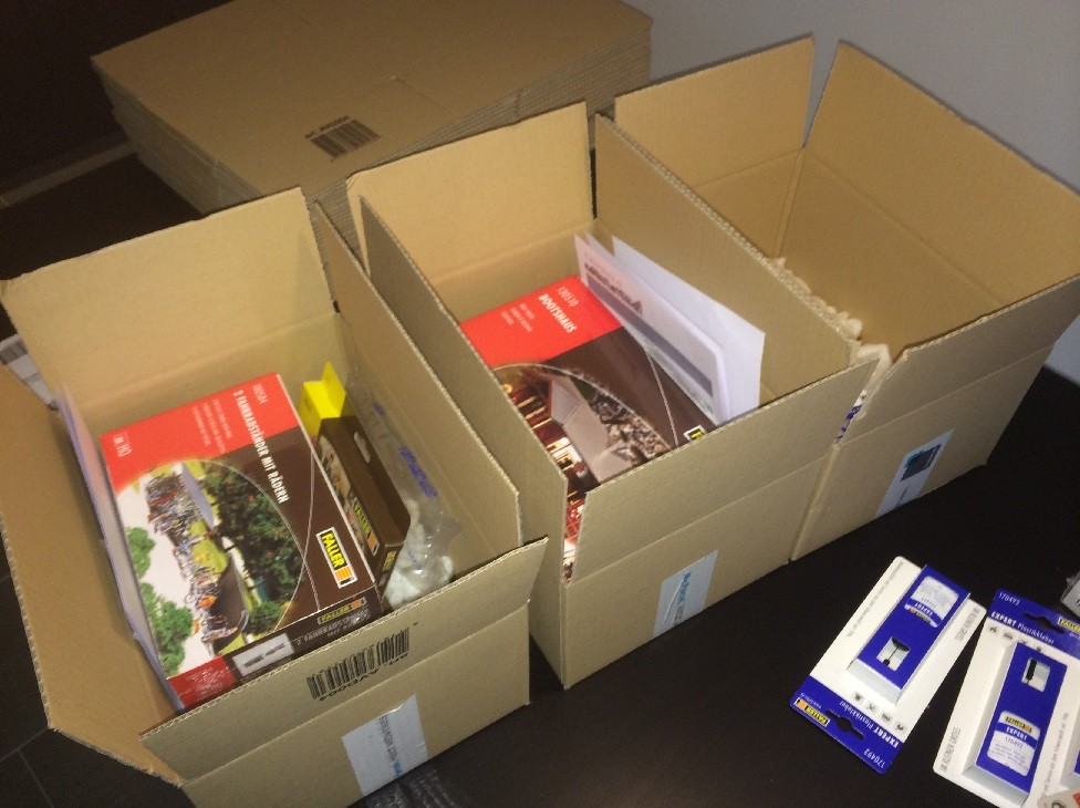 Fallerstore - inpakken bestellingen