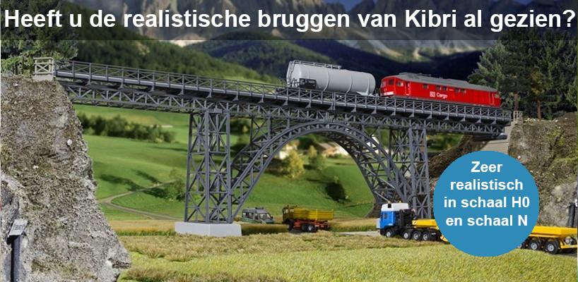 Kibri schitterende modelspoor bruggen